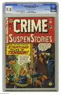 "Golden Age (1938-1955):Crime, Crime SuspenStories #2 Gaines File pedigree (EC, 1950) CGC NM/MT9.8 Off-white to white pages. In the story ""Dead-Ringer,"" a..."