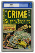 Golden Age (1938-1955):Horror, Crime SuspenStories #4 Double Cover (EC, 1951) CGC VF/NM 9.0Off-white pages. Johnny Craig's cover features two-headed, pick...