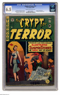 Golden Age (1938-1955):Horror, Crypt of Terror #17 (EC, 1950) CGC FN+ 6.5 Cream to off-whitepages. This key horror book is not only the first issue of thi...