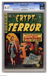 Crypt of Terror #17 (EC, 1950) CGC FN+ 6.5 Cream to off-white pages. This key horror book is not only the first issue of...