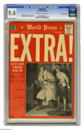 """Golden Age (1938-1955):Crime, Extra! #2 Gaines File pedigree (EC, 1955) CGC NM 9.4 Off-white to white pages. Johnny Craig's painted journalistic-style """"ph..."""