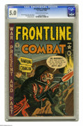 Golden Age (1938-1955):War, Frontline Combat #1 (EC, 1951) CGC VG/FN 5.0 Cream to off-whitepages. Harvey Kurtzman cover. Kurtzman, Wally Wood, Russ Hea...