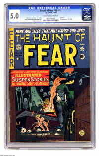 Haunt of Fear #15 (#1) (EC, 1950) CGC VG/FN 5.0 Cream to off-white pages. This is the first issue of one of EC's famous...
