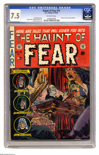 """Haunt of Fear #15 (EC, 1952) CGC VF- 7.5 Off-white pages. In this issue's story """"Death of Some Salesmen,"""" a Wi..."""