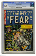 "Golden Age (1938-1955):Horror, Haunt of Fear #16 (EC, 1952) CGC NM 9.4 Off-white pages. In thisissue's story ""The Coffin,"" an adaptation of a Ray Bradbury..."
