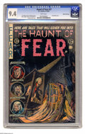 "Golden Age (1938-1955):Horror, Haunt of Fear #27 Gaines File pedigree 3/12 (EC, 1954) CGC NM 9.4White pages. ""Somber time ... and the livin' is E.C."" Don'..."