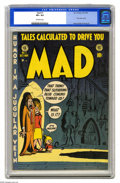 Golden Age (1938-1955):Humor, Mad #1 (EC, 1952) CGC VF+ 8.5 Off-white pages. What a stir this comic book must have made when it hit the stands in 1952. Co...