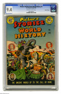 Golden Age (1938-1955):Non-Fiction, Picture Stories from World History #1 Gaines File pedigree (EC,1947) CGC NM 9.4 Off-white to white pages. From back in the ...