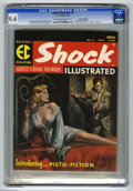 Golden Age (1938-1955):Crime, Shock Illustrated #3 Gaines File pedigree (EC, 1956) CGC NM 9.4 Cream to off-white pages. This magazine was not only the las...
