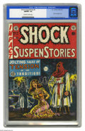 Golden Age (1938-1955):Horror, Shock SuspenStories #6 (EC, 1952) CGC NM/MT 9.8 Off-white to whitepages. We'll dare to call this bondage cover the most mem...