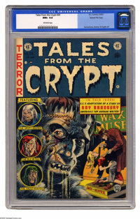 Tales From the Crypt #34 Gaines File pedigree 1/12 (EC, 1953) CGC NM+ 9.6 Off-white pages. A wax museum is always a grea...