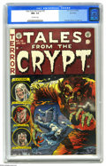 Golden Age (1938-1955):Horror, Tales From the Crypt #35 (EC, 1953) CGC NM+ 9.6 Off-white pages. Aseveryone should know by now, creeping around the graveya...