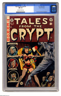 Tales From the Crypt #41 Gaines File pedigree 1/12 (EC, 1954) CGC NM 9.4 Off-white to white pages. A wonderfully frighte...