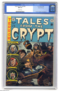 Tales From the Crypt #42 Gaines File pedigree Certificate Missing (EC, 1954) CGC NM 9.4 Off-white pages. Considered by m...