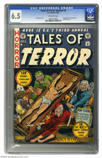 Tales of Terror Annual #3 (EC, 1953) CGC FN+ 6.5 Off-white pages. An Al Feldstein cover is cause enough to want this vin...