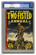 Golden Age (1938-1955):War, Two-Fisted Annual #2 (EC, 1953) CGC VF 8.0 Off-white to whitepages. A Jack Davis cover is only one of the highlights of thi...