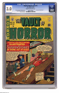 Vault of Horror #12 (EC, 1950) CGC GD/VG 3.0 Cream to off-white pages. First issue with of this title, and tied with Cry...