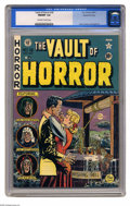 Golden Age (1938-1955):Horror, Vault of Horror #18 Gaines File pedigree 1/12 (EC, 1951) CGC NM/MT9.8 Off-white to white pages. Even if Johnny Craig's cove...
