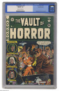 Golden Age (1938-1955):Horror, Vault of Horror #20 Gaines File pedigree 1/12 (EC, 1951) CGC NM/MT9.8 Off-white to white pages. Blood and gore as you like ...