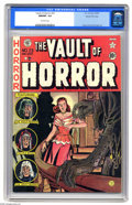 Golden Age (1938-1955):Horror, Vault of Horror #23 Gaines File pedigree 9/12 (EC, 1952) CGC NM/MT9.8 Off-white pages. Jack Davis did double duty on this i...