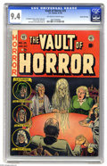 Golden Age (1938-1955):Horror, Vault of Horror #25 Gaines File pedigree (EC, 1952) CGC NM 9.4Off-white to white pages. Two con men put on a fake seance......
