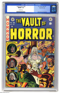 "Golden Age (1938-1955):Horror, Vault of Horror #28 Gaines File pedigree (EC, 1953) CGC NM/MT 9.8Off-white pages. Jack Davis drew this issue's story ""The C..."