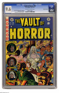 Golden Age (1938-1955):Horror, Vault of Horror #28 Gaines File pedigree 11/12 (EC, 1953) CGC NM+9.6 Off-white to white pages. Johnny Craig crafted one of ...