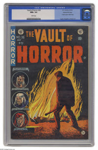 Vault of Horror #36 Gaines File pedigree 1/12 (EC, 1954) CGC NM+ 9.6 White pages. Johnny Craig leads off this issue with...