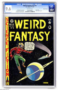 Golden Age (1938-1955):Science Fiction, Weird Fantasy #16 (#4) Gaines File pedigree (EC, 1950) CGC NM+ 9.6Off-white pages. Harvey Kurtzman's story in this issue fr...