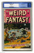 Golden Age (1938-1955):Science Fiction, Weird Fantasy #20 Gaines File pedigree (EC, 1953) CGC NM+ 9.6 Whitepages. Al Feldstein is at his best in the horrific alien...