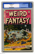 Golden Age (1938-1955):Science Fiction, Weird Fantasy #20 Gaines File pedigree 9/12 (EC, 1953) CGC NM 9.4White pages. Al Feldstein expertly mixes his sci-fi and ho...