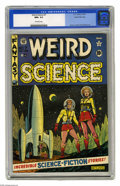 Golden Age (1938-1955):Science Fiction, Weird Science #7 Gaines File pedigree (EC, 1951) CGC NM+ 9.6Off-white pages. This is one of the highest-graded copies of ...