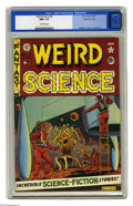 Golden Age (1938-1955):Science Fiction, Weird Science #8 Gaines File pedigree (EC, 1951) CGC NM+ 9.6Off-white pages. This beauty comes from Bill Gaines' own privat...