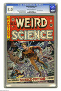 Golden Age (1938-1955):Science Fiction, Weird Science #12 (EC, 1952) CGC VF 8.0 Cream to off-white pages.Wally Wood cover. Interior art by Wood (two stories), Jack...