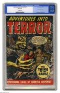 Golden Age (1938-1955):Horror, Adventures Into Terror #43 (#1) (Atlas, 1950) CGC VF+ 8.5 Off-whitepages. This is the first issue of the title, carrying ov...