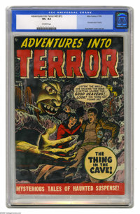 Adventures Into Terror #43 (#1) (Atlas, 1950) CGC VF+ 8.5 Off-white pages. This is the first issue of the title, carryin...