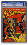 Golden Age (1938-1955):Horror, Astonishing #29 Canadian Edition (Bell Features, circa 1954) CGCFN/VF 7.0 Off-white pages. This Canadian edition does not h...