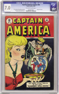 Golden Age (1938-1955):Superhero, Captain America Comics #64 (Timely, 1947) CGC FN/VF 7.0 Off-white to white pages. In addition to Captain America, this issue...
