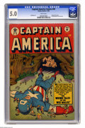 Golden Age (1938-1955):Superhero, Captain America Comics #69 (Timely, 1948) CGC VG/FN 5.0 White pages. Only a handful of unrestored copies of this book have b...
