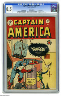 Captain America Comics #71 (Timely, 1949) CGC VF+ 8.5 White pages. Here's the highest-graded copy yet certified of this...