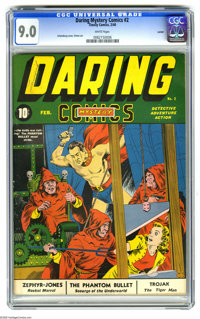 Daring Mystery Comics #2 Larson pedigree (Timely, 1940) CGC VF/NM 9.0 White pages. This is the highest-graded copy of th...