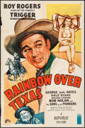 "Movie Posters:Western, Rainbow Over Texas (Republic, 1946). One Sheet (27"" X 41""). Western.. ..."