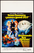 "Movie Posters:James Bond, Diamonds are Forever (United Artists, 1971). Window Card (14"" X22"") Robert McGinnis Artwork. James Bond.. ..."