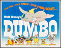 "Movie Posters:Animation, Dumbo & Other Lot (Buena Vista, R-1972). Half Sheet (22"" X 28"")& Insert (14"" X 36""). Animation.. ... (Total: 2 Items)"