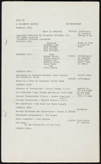 """Isn't It Romantic (Paramount, 1948). Script (Multiple Pages, 8.5"""" X 14""""). Comedy"""