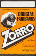 "Movie Posters:Swashbuckler, The Mark of Zorro (C.F.D.C./Capital Films, R-1960s). French Half Grande (29.75"" X 46""). Swashbuckler.. ..."