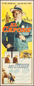 "Movie Posters:Crime, Al Capone (Allied Artists, 1959). Insert (14"" X 36"") Reynold BrownArtwork. Crime.. ..."