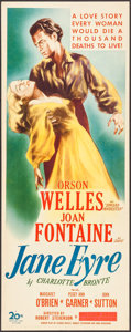 "Movie Posters:Romance, Jane Eyre (20th Century Fox, 1944). Insert (14"" X 36""). Romance....."