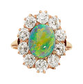 Estate Jewelry:Rings, Antique Opal, Diamond, Gold Ring . ...