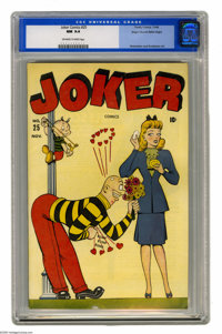 Joker Comics #25 Mile High pedigree (Timely, 1946) CGC NM 9.4 Off-white to white pages. Basil Wolverton's Powerhouse Pep...